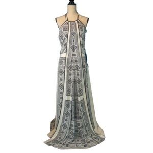 BCBGMaxAzria Arlenis Geometric Print Halter Dress
